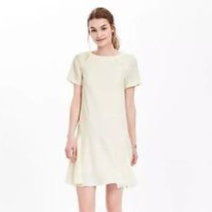 Banana Republic Off-White Flounce Dress