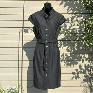 Connected Apparel  Dresses & Skirts - MOP Button Front  Sheath