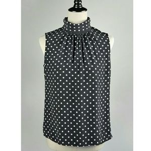 🌷CLEAROUT! Maggy London Silk Polka Dot Top