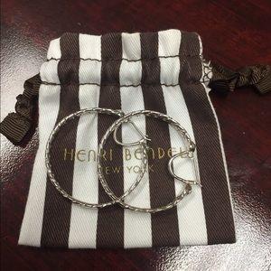 henri bendel Jewelry - Fabulous Henri Bendel No 7 chain hoop earrings