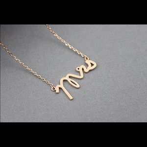 Mrs. Gold necklace, dainty gold necklace