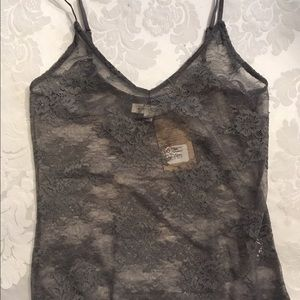 Honey Punch Other - ❤️Last One❤NWT Grey Floral Lace Bodysuit