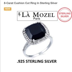Diamond Supply Co. Jewelry - 8-Carat Cushion Cut Ring in Sterling Silver