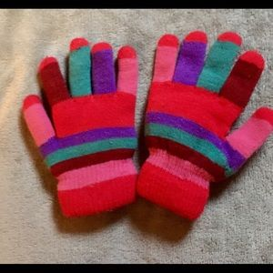 Accessories - Multicolored lined stretch gloves-WARM-OS