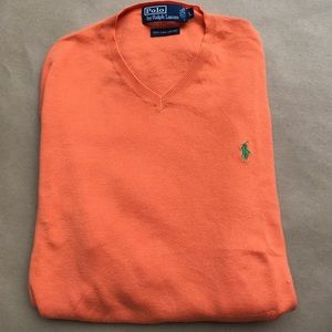 Polo by Ralph Lauren Other - Long sleeve orange 🍊 POLO v-neck sweater. Size L