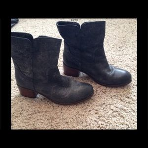 Diba Shoes - Diba Grey leather boots distressed leather
