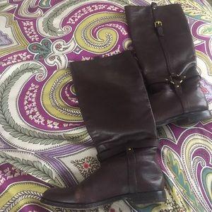 Coach riding boots sz 7