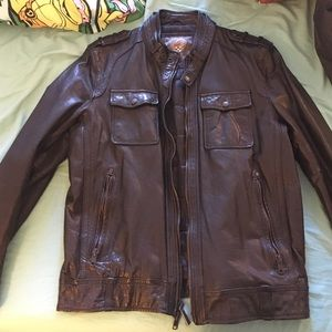 Vince Camuto black leather jacket