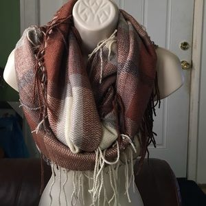 9c7564b0ccb Accessories - Plaid with fringe Infinity Scarf