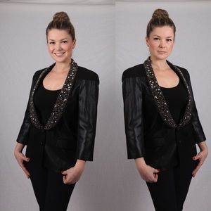 Rachel Roy Jackets & Blazers - Rachel Roy embellished black blazer