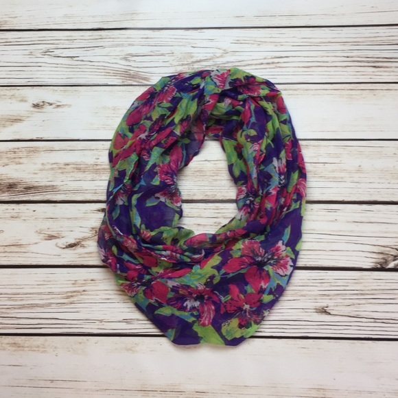afd4bac02a50c Accessories   Floral Infinity Scarf Pink Purple Green White   Poshmark