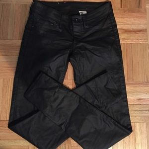 H&M Leather-like Skinny Jeans
