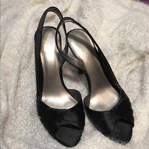 Black sandal Nine West 71/2 (fabric)