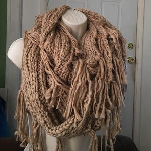 58a93874b01 Accessories - 100% Soft acrylic crochet fringe Infinity Scarf