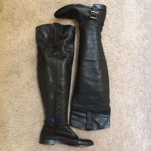 Leather Zara women's over the knee boots 41