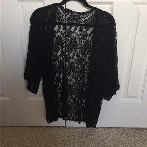 Freshman Sweaters - Black Lace Cardigan
