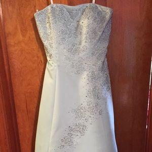 tiffany  Dresses & Skirts - Tiffany Designs Light Blue Prom Dress