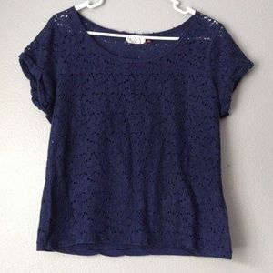 Tops - Navy Blue Lace Top
