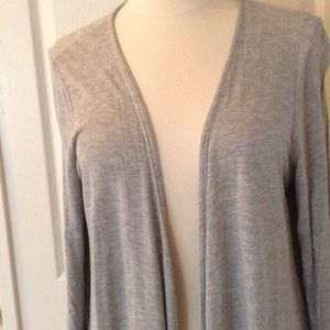 TORRID Cascading Cardigan with Sheer Back Panel