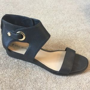 Via Spiga Vadina Black Sandals