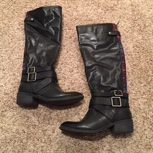 Pink & Pepper Shoes - Black Riding Boots