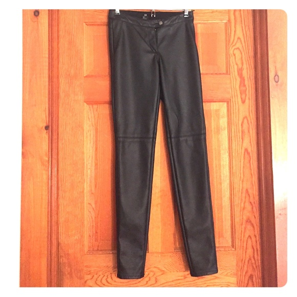 b3ec823cf03d7 H&M Pants   Hm Faux Leather Skinny Leggings Black Sale   Poshmark