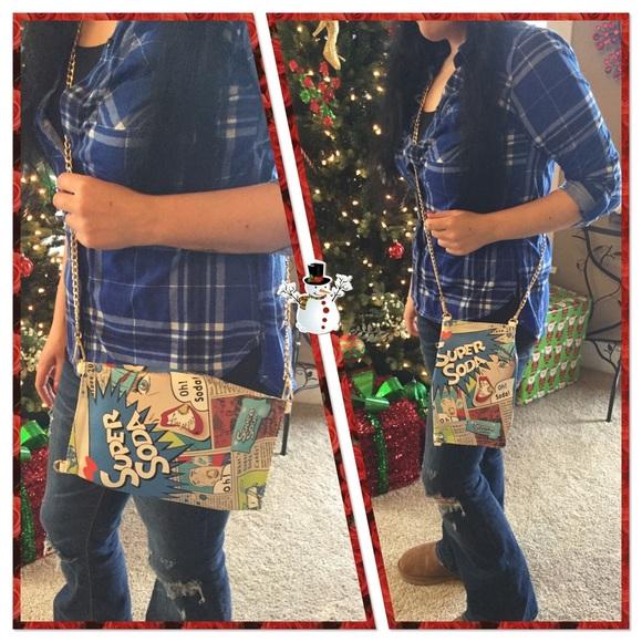 Boutique Bags - 💙 Pop Art - Blue Candy Purse, NWOT