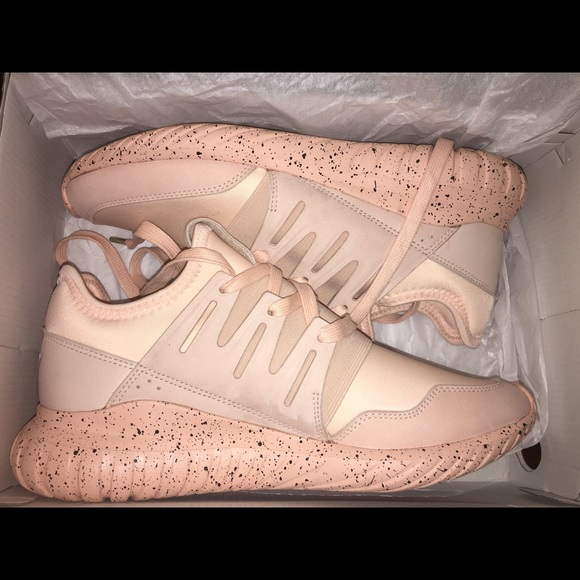 Adidas Tubular Radial Olive Green And Pink