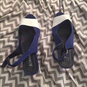 Chadwicks Shoes - J.G. Hook Blue Dress Shoes Size 10! Chadwick's cat