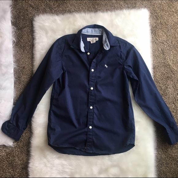 cb55eb5aa01 H M Other - Boys Dark Blue Button Down Shirt