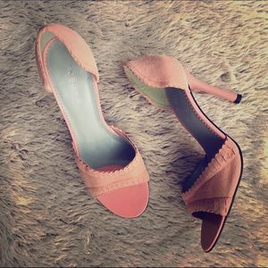 BCBGirls Shoes - BCBGirls Pink Suede Heels💖New
