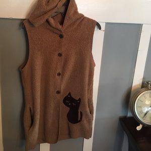 Jackets & Blazers - A cute hoodie cat vest