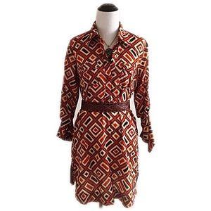 New York & Company Dresses & Skirts - Super soft New York & Company orange/black dress