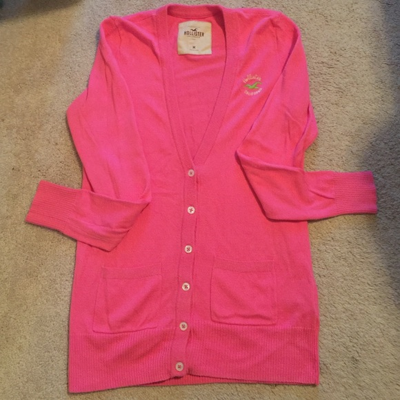 Hollister - Pink Hollister Button Up Sweater from Ashley's closet ...