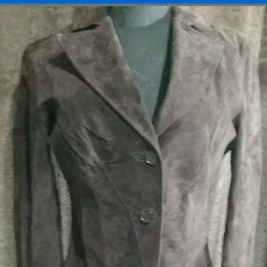 Siena Brown Suede Leather Jacket Size 4