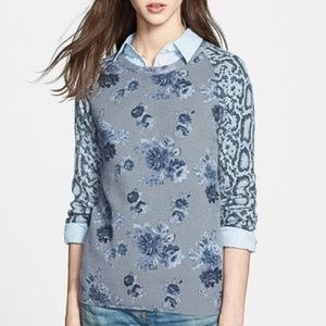 Equipment Sloane Print Cashmere Sweater Grey Multi