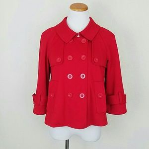 Sandro Jackets & Blazers - Red Double Breasted Jacket