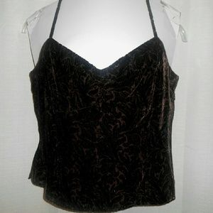 Etcetera Tops - ETCETERA Flocked Tank Top Size 8