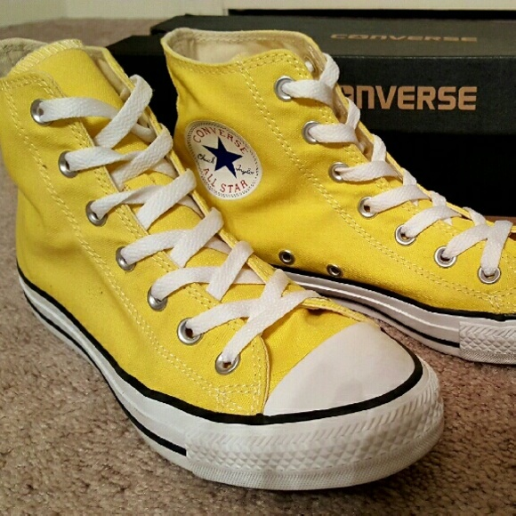 Converse Shoes - High Top Converse Chuck Taylors Bright Yellow e0ab69b81