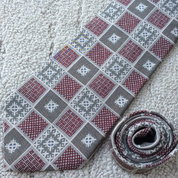 Austin Grey Other - Tribal Patchwork Holiday Print Tie