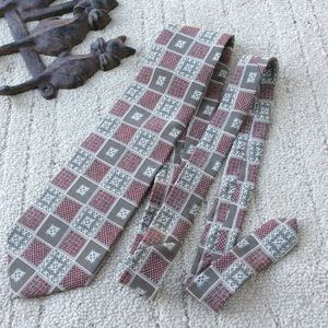 Austin Grey Accessories - Tribal Patchwork Holiday Print Tie