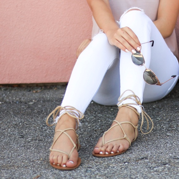 2cc0a09e021 Werkit Lace Up Suede Gladiator Sandals NWT