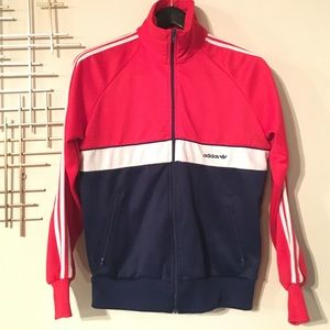 Adidas Jackets Coats Vintage Zip Up Track Jacket Red White Blue