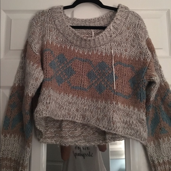 61% off Free People Sweaters - Free People Fair isle cropped ...
