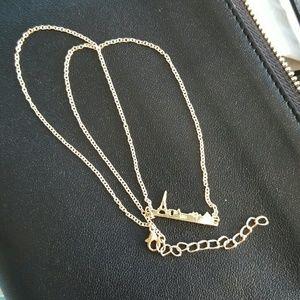 Jewelry - Gold Paris Skyline Necklace