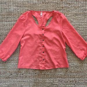 Tops - Open back blouse