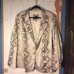 MYNT 1792 Jackets & Blazers - Snake skin satiny feel blazer 4X MYNT 1792