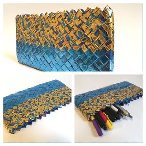 Handbags - Handmade , mini bag made with recycled paper.