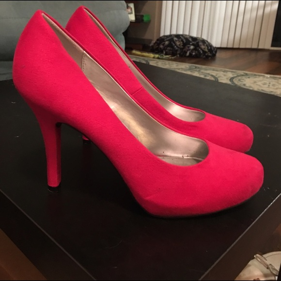 Red Shoes 3 Inch Heel