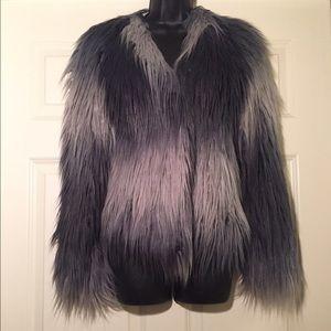 NWT Rachel Zoe Brooklyn Ombré Faux Fur Coat